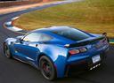 Фото авто Chevrolet Corvette C7, ракурс: 135 цвет: голубой