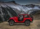 Фото авто Jeep Wrangler JL, ракурс: 90 цвет: красный