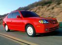 Фото авто Hyundai Accent LC [рестайлинг], ракурс: 315 цвет: красный