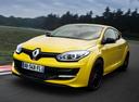 Фото авто Renault Megane 3 поколение [2-й рестайлинг], ракурс: 45 цвет: желтый