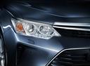 Фото авто Toyota Camry XV50 [рестайлинг], ракурс: передние фары цвет: серый
