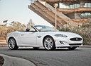 Фото авто Jaguar XK X150 [2-й рестайлинг], ракурс: 315 цвет: белый
