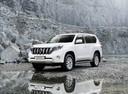 Фото авто Toyota Land Cruiser Prado J150 [рестайлинг], ракурс: 45 цвет: белый