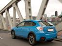 Фото авто Subaru XV 1 поколение [рестайлинг], ракурс: 135 цвет: голубой