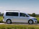Фото авто Volkswagen Caddy 4 поколение, ракурс: 270 цвет: серебряный