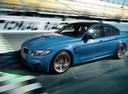 Фото авто BMW M3 F80, ракурс: 45 цвет: голубой