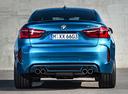 Фото авто BMW X6 M F86, ракурс: 180 цвет: голубой