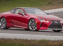 Фото авто Lexus LC 1 поколение, ракурс: 270 цвет: красный