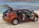 Фото авто Dodge Caliber 1 поколение, ракурс: 270 цвет: оранжевый