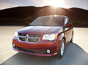 Фото авто Dodge Caravan 5 поколение [рестайлинг], ракурс: 45 цвет: бордовый
