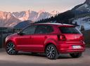 Фото авто Volkswagen Polo 5 поколение [рестайлинг], ракурс: 135 цвет: красный