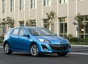 Фото авто Mazda 3 BL, ракурс: 315 цвет: голубой