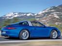Фото авто Porsche 911 991, ракурс: 225 цвет: синий