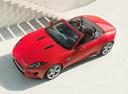 Фото авто Jaguar F-Type 1 поколение, ракурс: сверху цвет: красный