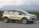 Фото авто Ford Kuga 2 поколение, ракурс: 315 цвет: бежевый