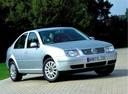 Фото авто Volkswagen Bora 1 поколение, ракурс: 315 цвет: белый