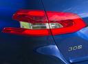 Фото авто Peugeot 308 T9 [рестайлинг], ракурс: задние фонари цвет: синий