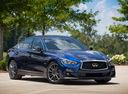 Фото авто Infiniti Q50 1 поколение [рестайлинг], ракурс: 315 цвет: синий