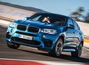 Фото авто BMW X6 M F86, ракурс: 45 цвет: голубой
