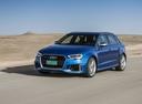 Фото авто Audi RS 3 8VA [рестайлинг], ракурс: 45 цвет: синий