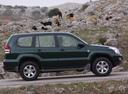 Фото авто Toyota Land Cruiser Prado J120, ракурс: 270 цвет: зеленый