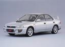 Фото авто Subaru Impreza 1 поколение, ракурс: 45 цвет: серебряный