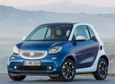 Фото авто Smart Fortwo 3 поколение, ракурс: 45 цвет: синий