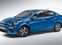 Фото авто Kia Rio 4 поколение, ракурс: 45 - рендер цвет: голубой