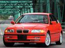 Фото авто BMW 3 серия E46, ракурс: 45 цвет: красный