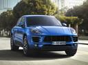 Фото авто Porsche Macan 1 поколение, ракурс: 315 цвет: синий