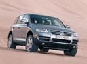 Фото авто Volkswagen Touareg 1 поколение, ракурс: 315 цвет: серый