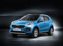 Фото авто Kia Sportage 4 поколение, ракурс: 45 - рендер цвет: голубой