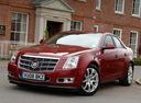 Фото авто Cadillac CTS 2 поколение, ракурс: 45 цвет: красный