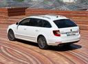 Фото авто Skoda Superb 2 поколение [рестайлинг], ракурс: 135 цвет: белый