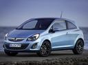 Фото авто Opel Corsa D [рестайлинг], ракурс: 45 цвет: голубой