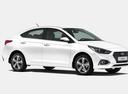 Фото авто Hyundai Solaris 2 поколение, ракурс: 315 - рендер цвет: белый