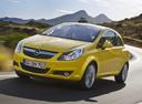 Фото авто Opel Corsa D, ракурс: 45 цвет: желтый