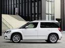 Фото авто Skoda Yeti 1 поколение [рестайлинг], ракурс: 90 цвет: белый