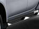 Фото авто Mitsubishi L200 4 поколение [рестайлинг], ракурс: боковая часть цвет: серебряный