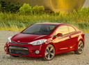 Фото авто Kia Cerato 3 поколение, ракурс: 45 цвет: красный