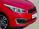 Фото авто Kia Cee'd 2 поколение [рестайлинг], ракурс: передняя часть цвет: красный