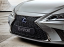 Фото авто Lexus ES 7 поколение, ракурс: передняя часть цвет: серебряный