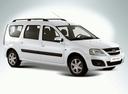 Фото авто ВАЗ (Lada) Largus 1 поколение, ракурс: 315 - рендер цвет: белый
