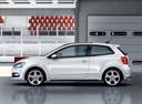 Фото авто Volkswagen Polo 5 поколение, ракурс: 90 цвет: белый