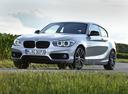 Фото авто BMW 1 серия F20/F21 [рестайлинг], ракурс: 45 цвет: серебряный