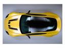 Фото авто Aston Martin Vantage 3 поколение [2-й рестайлинг], ракурс: сверху цвет: желтый