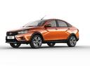 Фото авто ВАЗ (Lada) Vesta 1 поколение, ракурс: 45 - рендер цвет: оранжевый