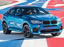 Фото авто BMW X6 M F86, ракурс: 315 цвет: голубой