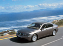 Фото авто BMW 7 серия E65/E66, ракурс: 45 цвет: бежевый