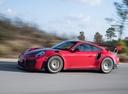 Фото авто Porsche 911 991 [рестайлинг], ракурс: 45 цвет: красный